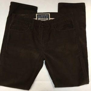 LEVI'S 511 men's corduroy brown skinny  pants W34